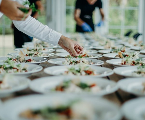 buffet, scallops main, wedding, Corporate Event Catering in London - texturecatering